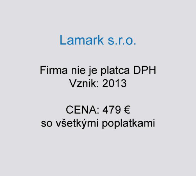 Spoločnosť na predaj Lamark s.r.o.