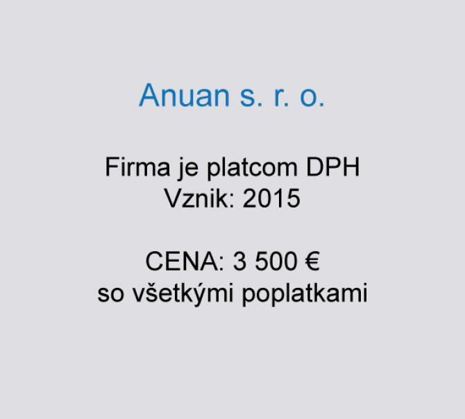 Spoločnosť na predaj Anuan s. r. o.