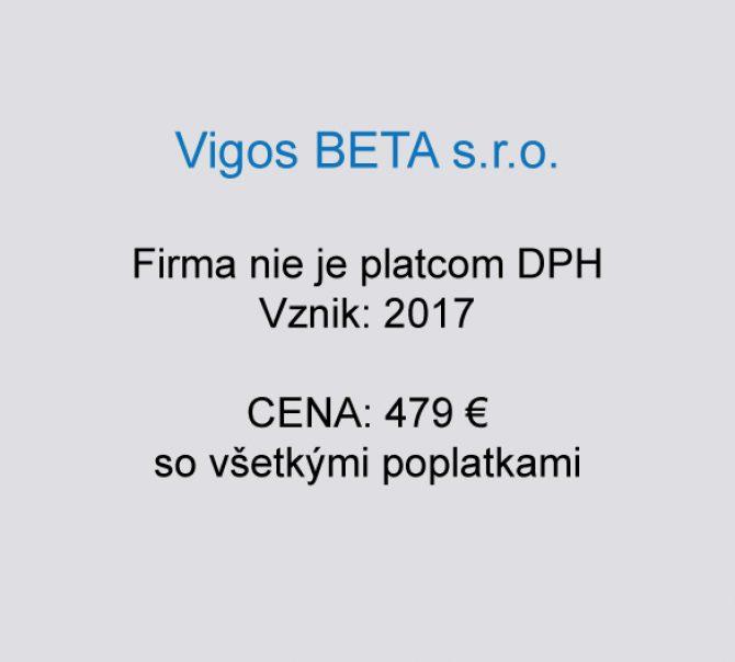 Spoločnosť na predaj Vigos BETA s.r.o.